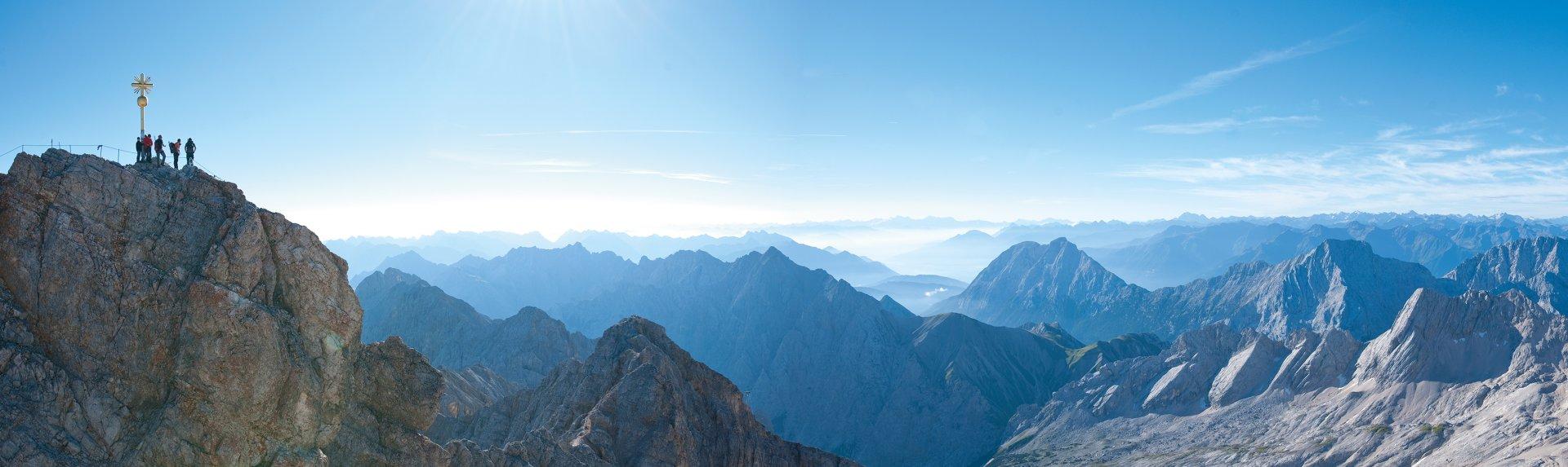 Zugspitze Panorama Zugspitze-Wanderungen ...