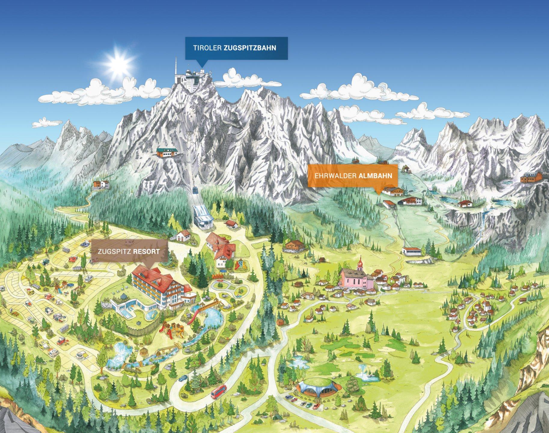 Zugspitze Tiroler Zugspitzbahn Ehrwalder Almbahn